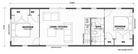 Elements 4 - 54m2 floor plan