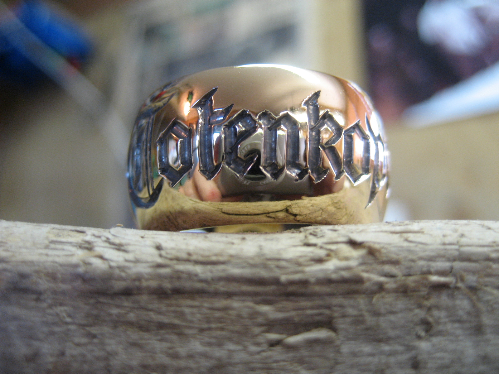 Hand engraved band