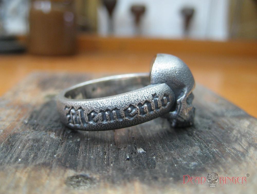 Skull Ring Memento Mori