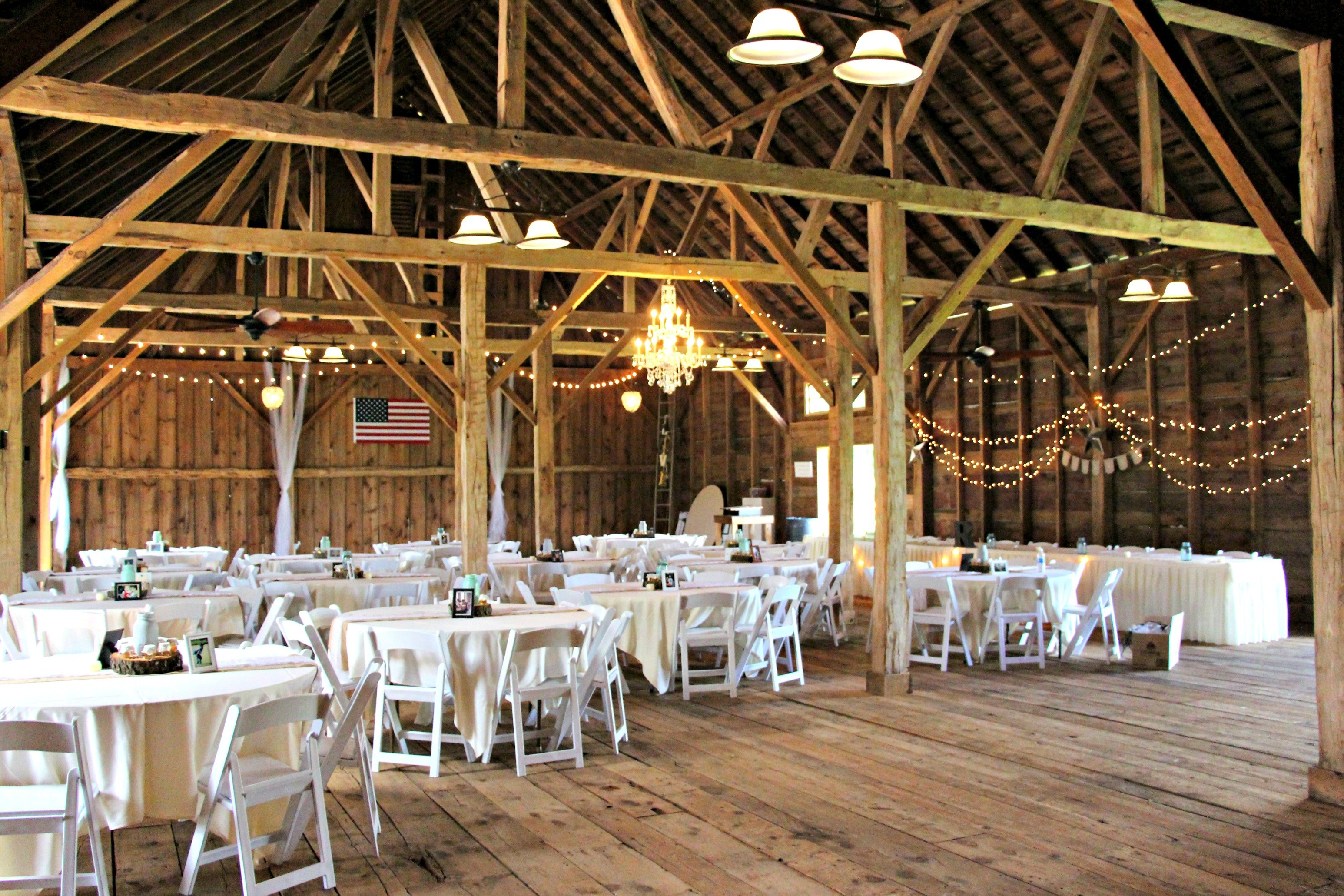 Inside of the barn