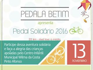 Pedal Solidário vai arrecadar brinquedos para crianças do CIM Wilma da Costa Pinto Afonso