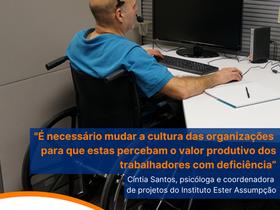 Instituição busca pessoas com deficiência para formar banco de talentos