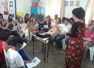 Atividade motivacional é realizada para a equipe da Escola M. Geferson Ventura de Souza