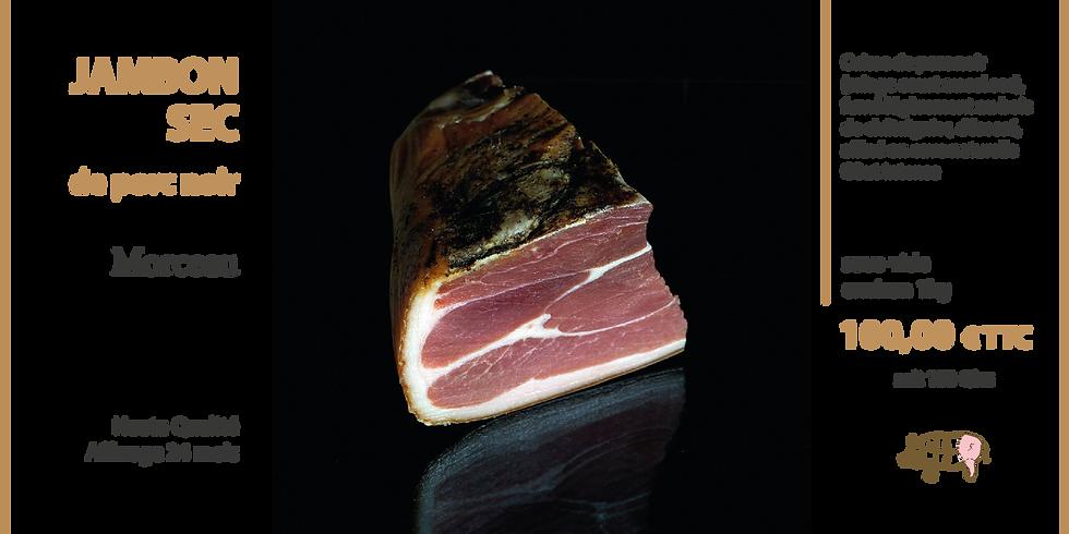 Jambon sec de porc noir 24 mois - morceau