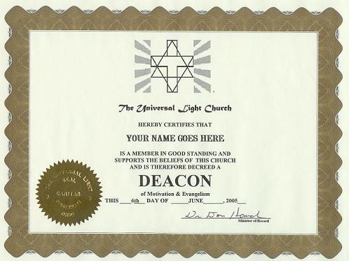 Deacon Certificate