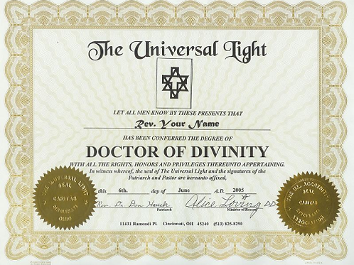 Doctorate of Divinity
