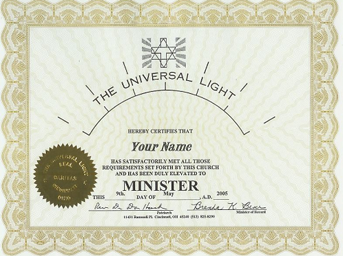 Minister Ordination