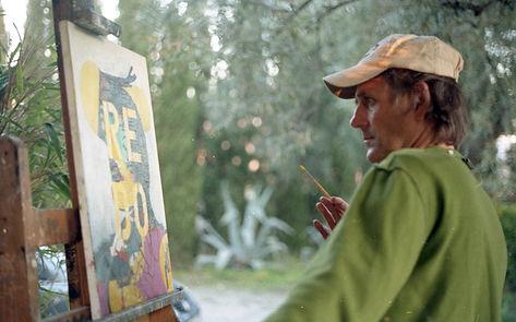 Nick Fudge painting, 2019, 35mm