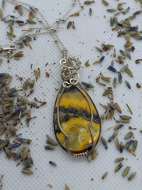 Bumblebee Jasper Necklace