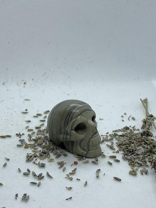 Lined Jasper Crystal Skull