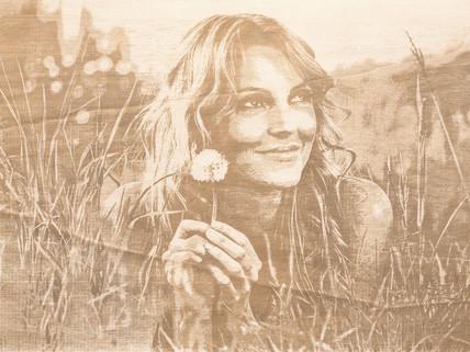 Holzbild Frau