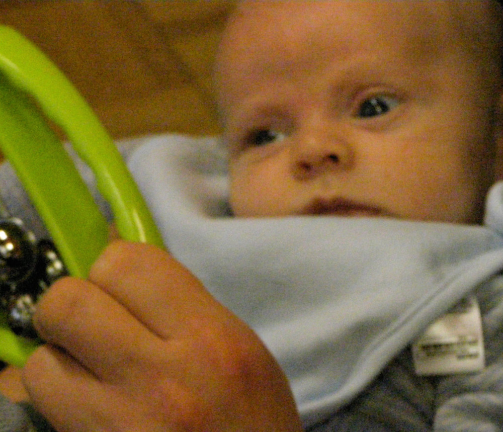 My youngest when he was a newborn coming to one of my classes!