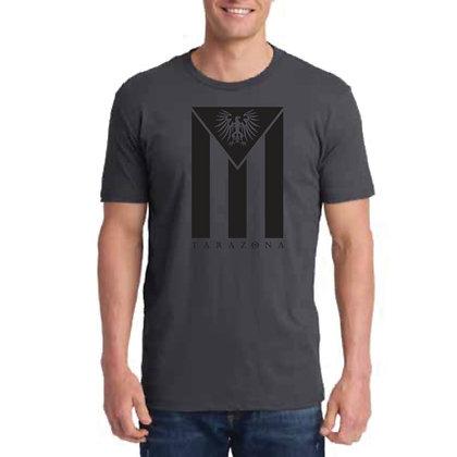 Cuban Flag T-Shirt - Men's/Charcoal/Black