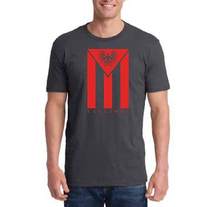 Cuban Flag T-Shirt - Men's/Charcoal/Red