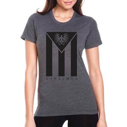 Cuban Flag T-Shirt - Women's/Charcoal/Black