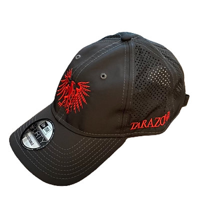 Águila Logo Hat- Charcoal/Red