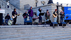 The Band battling the cold