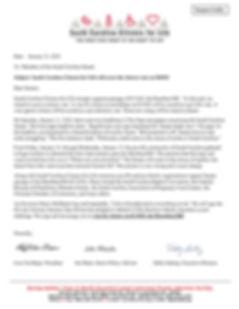 Letter to Senators Vote Cloture on H3020