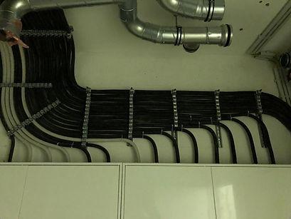 Verlegung von Kabelquerschnitten