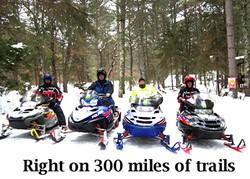 Creekside snowmobilers 300 miles