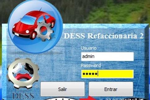 DESS Refaccionaria Versión 2, licencia electrónica original, para 1 equipo