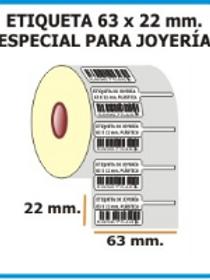ETIQUETA JOYERIA 63 X 22 BB03 BLANCO R2500