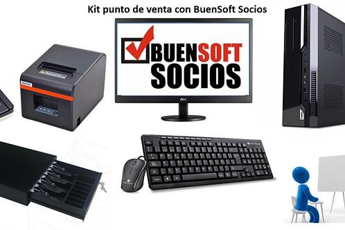 Kit de punto de venta con BuenSoft Socios GYM