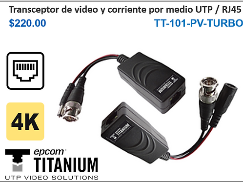 Transceptor de video y corriente por medio UTP / RJ45