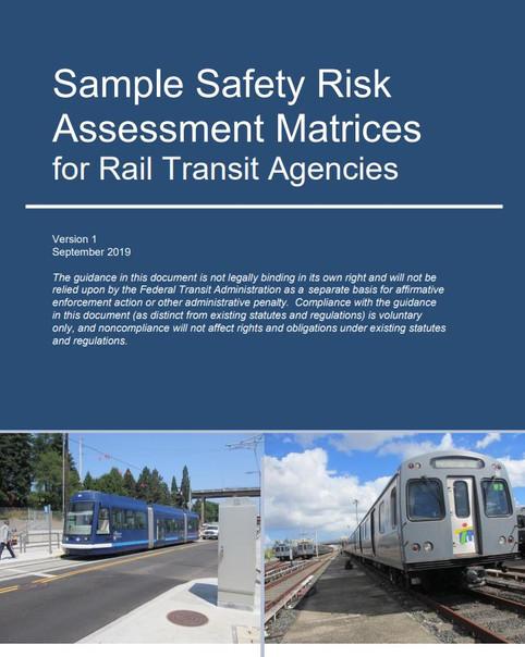 [FTA] 철도 운송 기관을위한 안전 위험 평가 매트릭스 샘플