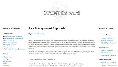 PRINCE2 Wiki 홈.JPG