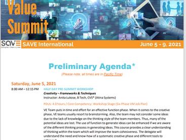 [SAVE International] 2021 Value Summit 온라인 컨퍼런스로 개최