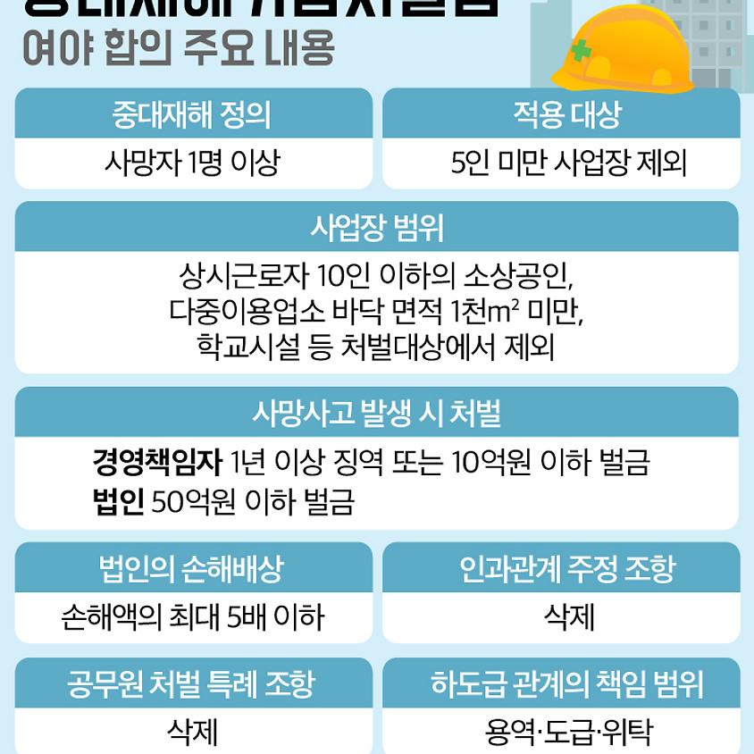 [임시회의]중대재해처벌법 시행령(안) 보완 의견 개진을 위한 긴급회의 개최
