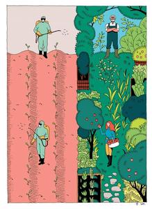 Agriculture poison farm v permaculture biodiversity farm