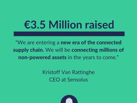 Notre partenaire technologique Sensolus vient de réaliser une levée de fonds de 3,5 millions d'euros