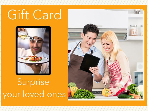 Gift Card for a private Cooking Class