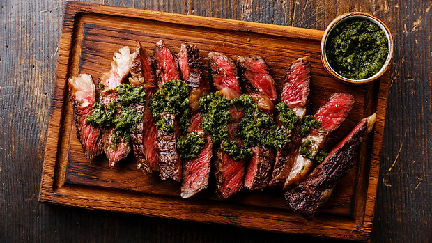 Argentina - Fabian Vitale - ? Argentinian churrasco with chimichurri and creole saucesVirtual Cooking Class