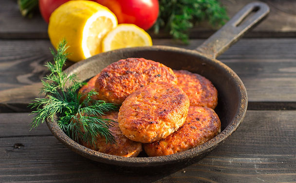 Brazil-Jim Huntington-Salmon Cake with Mustard Sauce