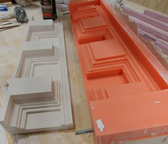Liquid silicone for large mold making