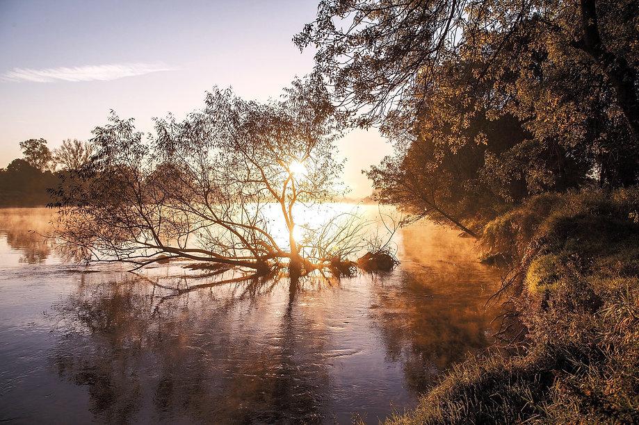La Loire au coucher du soleil