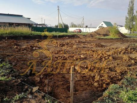 Фундамент под дом г. Кемерово, пос. Новостройка.