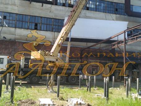 Установка трансформаторной подстанции на Винтовые сваи. Азот