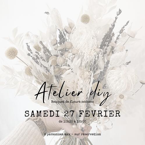 Atelier DIY du 27 Février 2021 - Bouquet de fleurs séchées