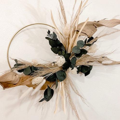 UNIK - couronne murale en fleurs séchées