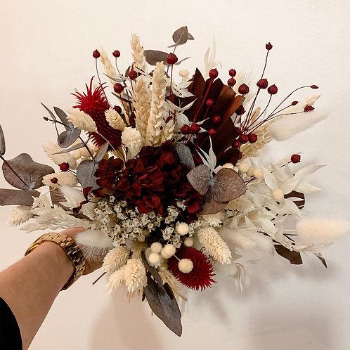 BLOOMY - Bouquet de fleurs séchée aux teintes rouges