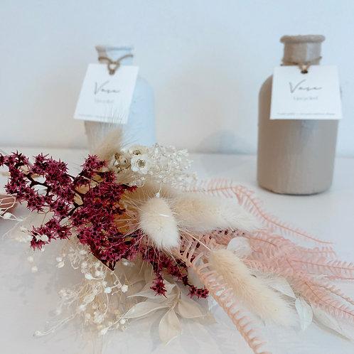 SOLY - Soliflore peint et son bouquet séché