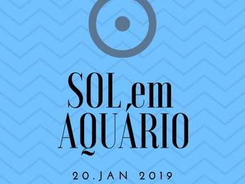 Sol em Aquário em 20 janeiro 2019