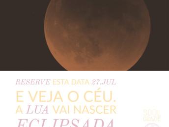 Eclipse 27 julho 2018 no eixo leão-aquário