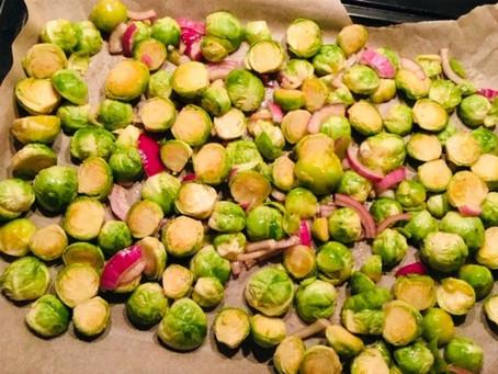 Zomerse wintergroente: spruitjes met balsamico in de oven