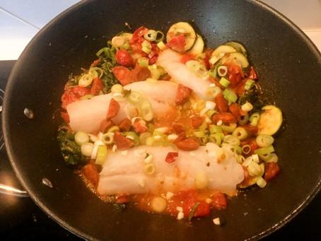 Vis, chorizo en pimenton de la vera, zomer op je bord!