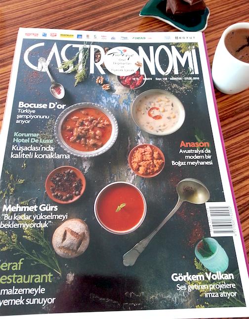 Gastronomi dergisindeyiz